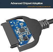 Benfei - Cable SATA a USB, adaptador de disco duro USB 3.0 a SATA ...
