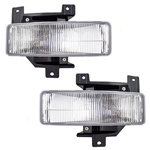 Driver and Passenger Fog Lights Lamps Replacement for Ford Pickup Truck SUV F75Z15A255BB F75Z15A254BB AutoAndArt 1997 1998 Fog Light