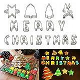 [Free Shipping] Christmas Letter Elk Bell Stainless Steel Biscuit Cake Cookies Cutter Mould Baking Mold // Lettre noël elk cookies gâteau biscuit en acier inoxydable de cloche coupe moule moule de cuisson