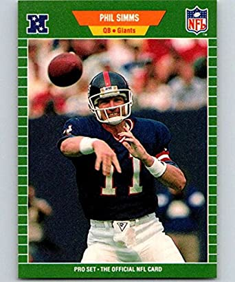 detailed pictures 8f68e 6961b Amazon.com: 1989 Pro Set #291 Phil Simms NY Giants NFL ...