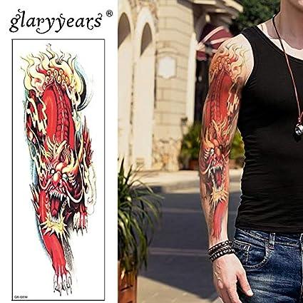 HXMAN 3 Unids Brazo Grande Temporal Tatuaje Pegatina Esqueleto ...