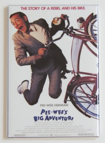 Pee Wee's Big Adventure Movie Poster Fridge Magnet (2.5 x 3.5 inches)