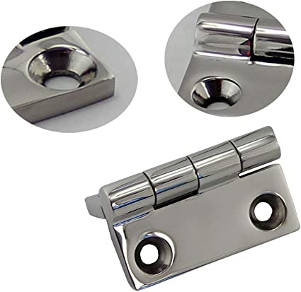 KIZSOP Heavy Duty Stainless Steel Butt Hinges Marine Stainless Steel 1-1//2/×1-1//2Inch Pair