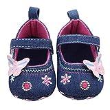 Baby Walking Shoes for 0-18 Months,Newborn Infant Girl Boy Anti-Slip Soft Sole Butterfly Shoes Prewalker (0-6 Months, Blue)