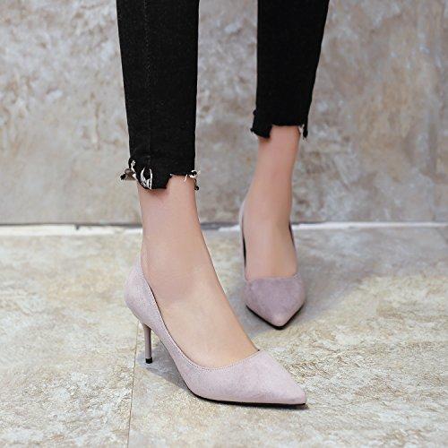 nocturno Caqui Punto Sexy Moda Suede 35 Tacones elegante una de multa 44 Con Transpirable 10 Sandalias club Zapatos cm Ajunr Zapatos fqZAUwx
