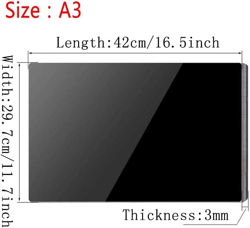 ,Thickness 2mm 420 mm X 297 mm // A3 DSFHKUYB 2//3 mm plexigl/ás Negro Brillante Acr/ílico l/áminas de pl/ástico 2 tama/ños para Seleccionar