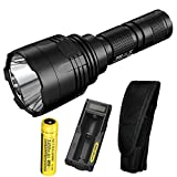 Nitecore P30 1000 Lumens 676 Yards Throw Rechargeable Searchlight Flashlight with a high Capacity 3400mah Battery, UM10 Charger and Lumen Tactical Adapters For Sale