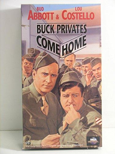 Bud Abbott & Lou Costello In Buck Privates Come Home---VHS Video tape