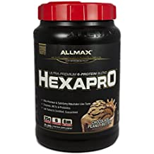 ALLMAX Nutrition Hexapro Ultra-Premium Protein MCT Coconut Oil Chocolate Peanut Butter 3 lbs 1 36 kg