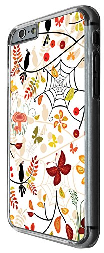 1289 - Cool Fun Trendy cute kwaii butterfly birds spider spider web colourful floral flowers collage Design iphone 5C Coque Fashion Trend Case Coque Protection Cover plastique et métal - Clear