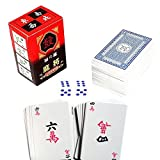 Portable Paper Chinese Mahjong Mah Jongg Playing Cards Includes 144 Cards
