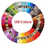 Embroidery Floss Friendship Bracelet String 150 Skeins Multi-Color Cross Stitch Thread with Color Numbers,6 Strand Floss: more info