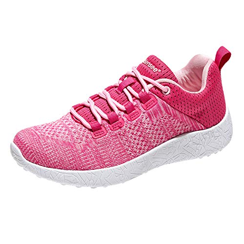 BODENSEE Women Adult Sneakers Athletic Sports Lace Up Lightweight Breathable Walking Trail Running ()