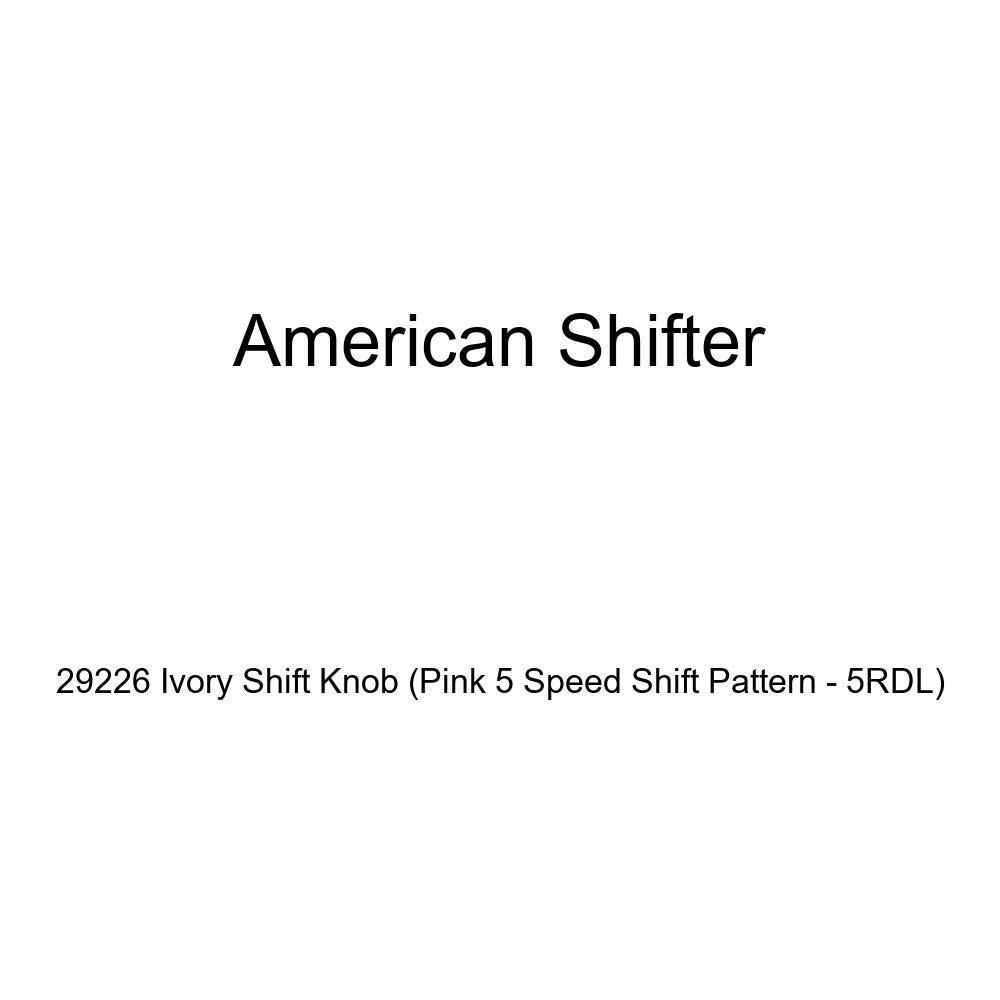 American Shifter 29226 Ivory Shift Knob Pink 5 Speed Shift Pattern - 5RDL