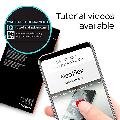 size 40 f6473 373aa Spigen NeoFlex LG V30 Screen Protector [ Flexible Film ] [ Case ...
