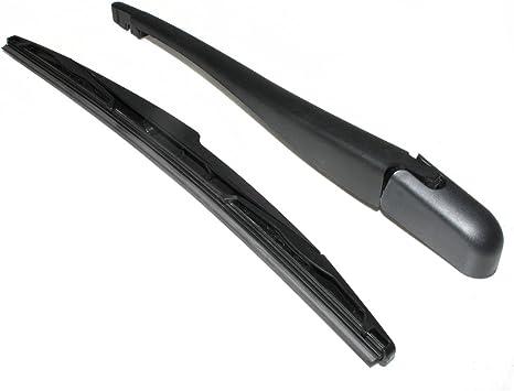CarJoy Rear Windscreen Window Windshield Wiper Arm Blade Set Compatible With 206 1998 C3 2002 onwards Saxo 1996-2004 Kangoo 2008