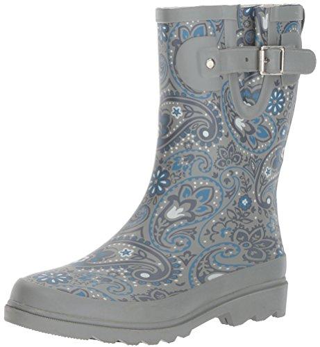 Boot Women's Chief Charming Western Paisley Rain Mid Printed F8xSqz