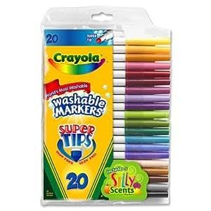 Crayola Rotuladores súper avanzados Súper Consejos - Diferentes sabores - lavable de tinta (3 pack)