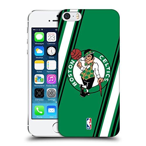 Official NBA Stripes Boston Celtics Hard Back Case for Apple iPhone 5 / 5s / SE (Snap Celtics Boston)
