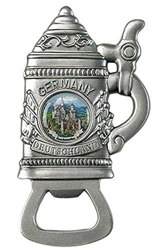 German Metal Beer Stein Magnet Bottle Opener