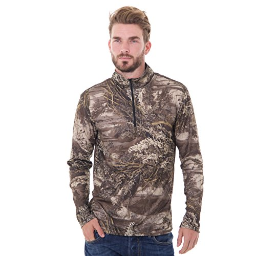 Realtree Men's Long Sleeve 1/4 Performance Shirt, X-Large, Realtree Max XT Camouflage