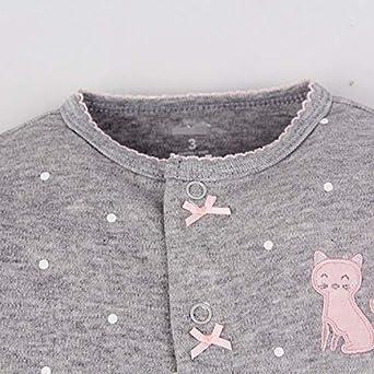 Baumwolle Pyjamas Cartoon Overalls mit 0-12 Monate CARETOO Unisex Baby Schlafstrampler B/ärchen