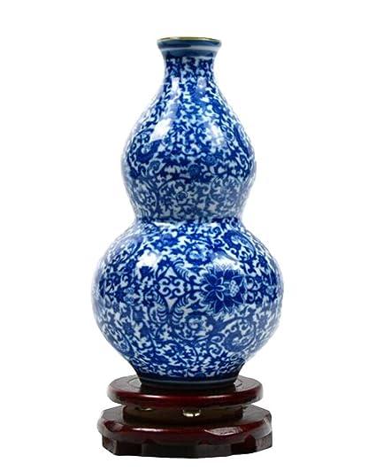 Amazon East Majik Gourd Shape Blue And White Porcelain Style
