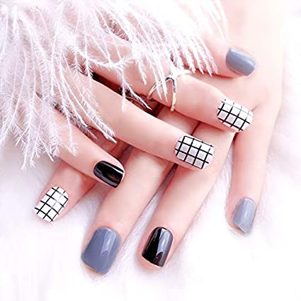 24 puntas de uñas postizas para manicura, salón de uñas, uñas ...