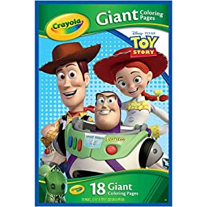 Amazon.com: Crayola Giant Coloring Pages Disney: Toy Story ...