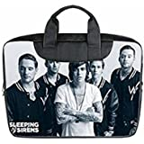 Custom Sleeping With Sirens Laptop Bag Case Cover Bag Water Resistant For Laptop 17 quot; Twin sides