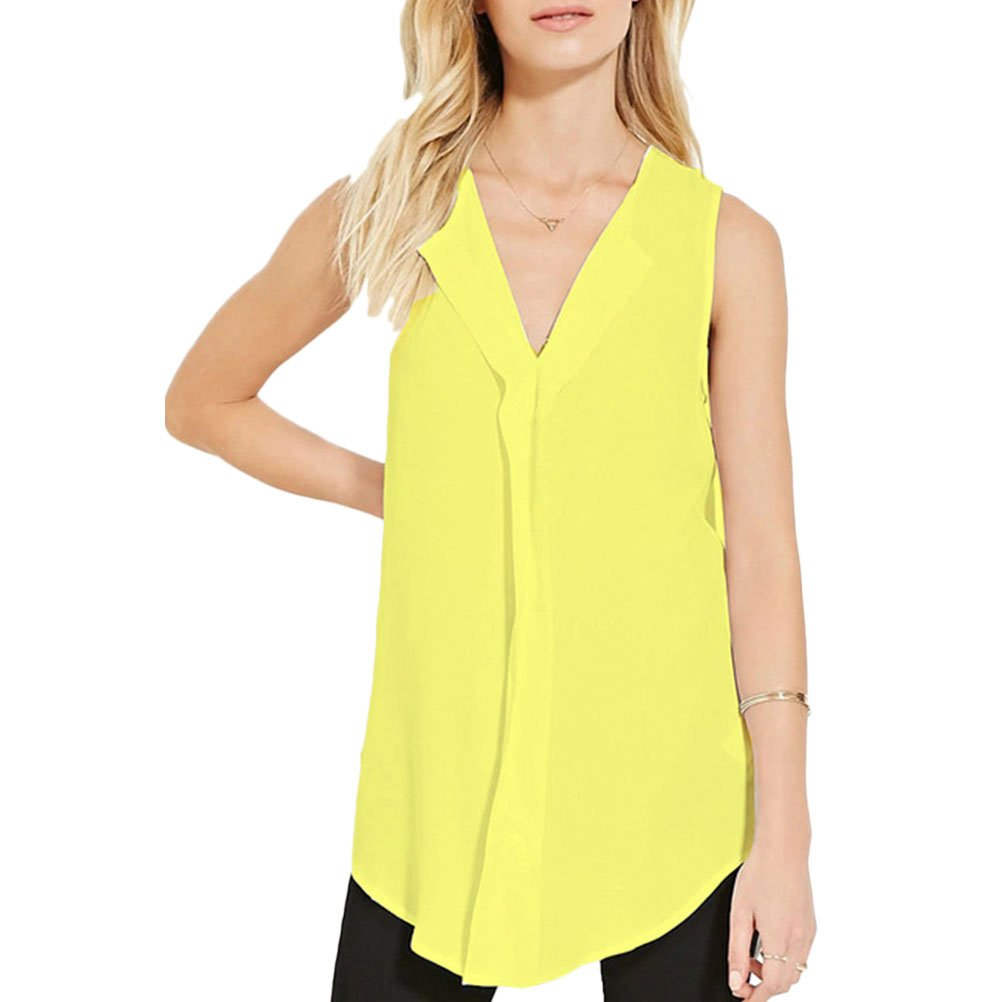 Zhuhaitf Casual Cozy Chiffon Vest Tops Ladies Special T shirts for Fashion Women