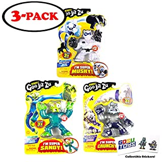 Heroes of Goo JIT Zu (3 Pack) Mantor, Pantaro, Wolfpain with 2 GosuToys Stickers