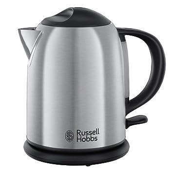 Russell Hobbs 20195-70 Hervidor compacto de acero inoxidable cepillado, 1 L 2200 W, 1 Liter, Gris: Amazon.es: Hogar