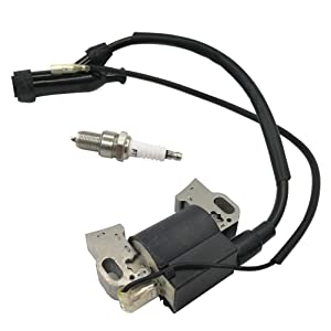 Ignition Coil Module and Spark Plug for Honda GX240 GX270 GX340 GX390 8HP 11HP 13HP Engine Lawn Mower Tractor