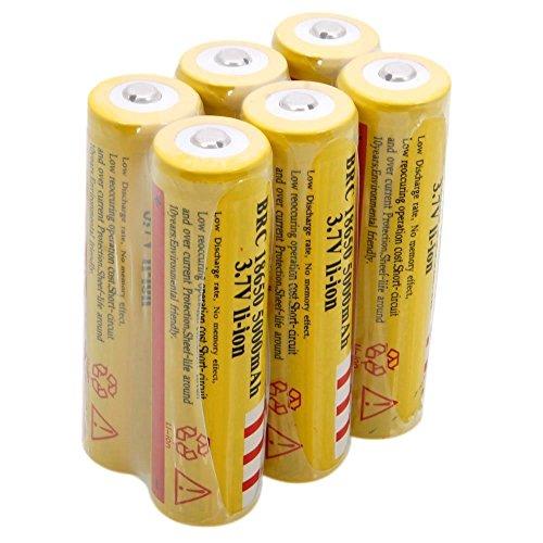 mini-butterball-6pcs-18650-5000ma-37v-li-ion-rechargeable-yellow-batteries-for-led-flashlight-electr