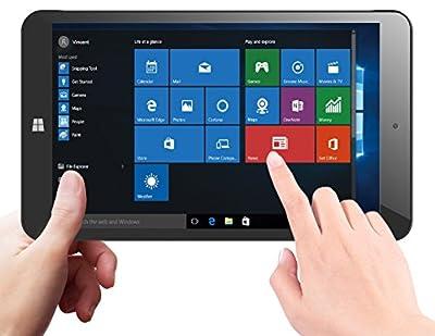 KOCASO 8 Inch Windows 10 HD Tablet PC Computer (1.8GHz Quad Core Intel Processor, 1GB RAM, 16GB Internal Storage, 800x 1280 HD IPS Screen, Bluetooth 4.0, 1 Month Microsoft Office Subscription) - Black