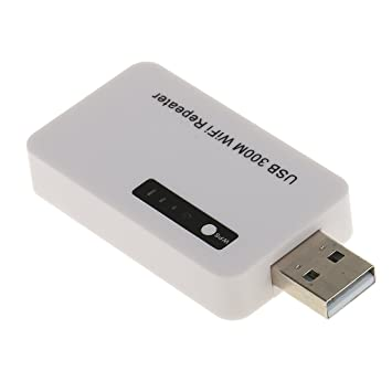 MagiDeal 300mbps Mini USB WiFi 2.4GHz Repetidor Amplificador de Señal Enrutador Aumentador de Presión -