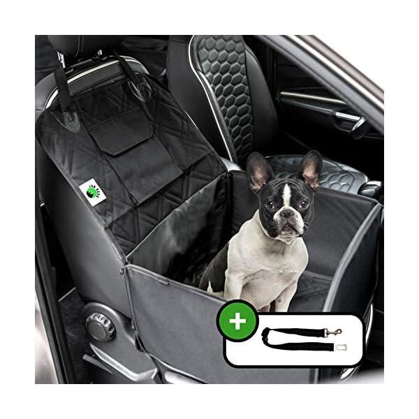 51jzmLglkYL Jon Berg Extra Stabiler Hunde Autositz - Hundesitz für kleine und mittlere Hunde mit Leine - wasserdichter Hundeautositz…