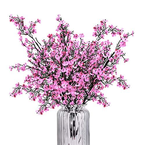Baby Breath Gypsophila Artificial Flowers, Babies Breath Flowers Bush Artificial Gypsophila Silk Silica Real Touch Blooms for Wedding Bridal Party DIY Home Floral Arrangement Decor, 4 Bundles, - Decor Arrangement Floral