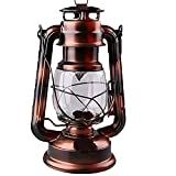 Maylai Hurricane Lamps for Kerosene Antique Wall Lights Wrought Iron Vintage Lantern Antique Lamps Hurricane Lamps Outdoor Camping Adjustable Tents Camping Lamp(Not Including Kerosene)