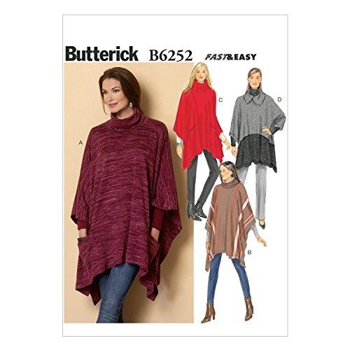 BUTTERICK PATTERNS B6252ZZ0 Misses Poncho, ZZ (LRG-XLG-XXL) ()