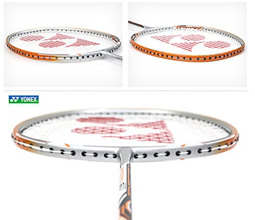 Yonex NANORAY 20 NEW Badminton Racket 2017 Racquet Silver/Orange 3U/G4 Pre-strung with a Half-length Cover (NR20-Silver/Orange) by Yonex (Image #2)