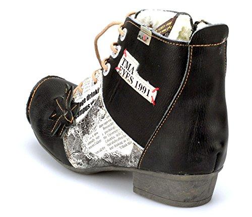 TMA 8077 Winter Damenschuhe Stiefeletten Boots Gefüttert 36 bis 42 Schwarz