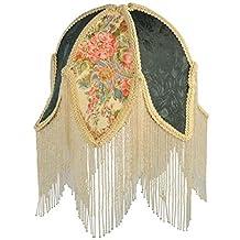 "Meyda Tiffany 14425 Fabric & Fringe Tulip Lamp Shade, 11.5"" Width"