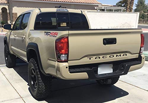 Matte Black Premium Cast Tailgate Vinyl Decal Inlays for 2016 2017 2018 2019 Toyota Tacoma TRD PRO Sport Offroad SR5 V6 4x4 Access Cab Double Cab by CAO Enterprises