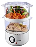Oster CKSTSTMD5-W 5-Quart Double Tiered Food Steamer, White, New,