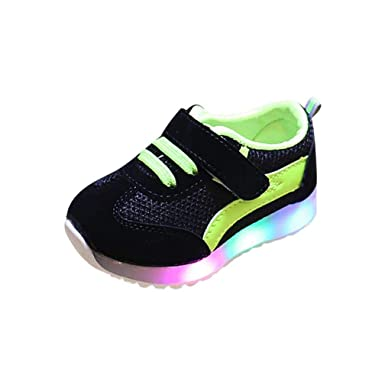 HOMEBABY Toddler Kids Light Up Trainers Baby Girls Boy Casual Sport Running LED Luminous Shoes Sneakers Unisex Halloween Christmas Gift