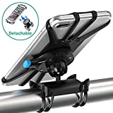 Bike Phone Mount, Bovon [One-Key Detachable] 360°Rotation Silicone Bicycle Phone Holder, Universal Handlebar Rack Fits iPhone XS/XR/XS Max/8/7/ 6/6s Plus, Galaxy Note9/S9/S9 Plus/S8/S8 Plus