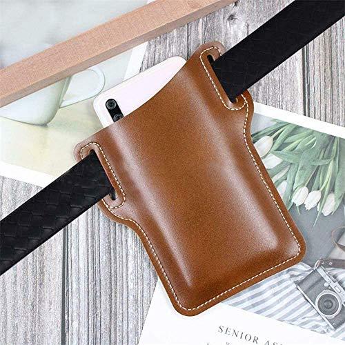 Retro Cell Phone Case Belt Bag Purse,leather Compact Pockets Waist Bag,waist Belt Loop Cell Mobile Phone Protection Case Bag (Black)