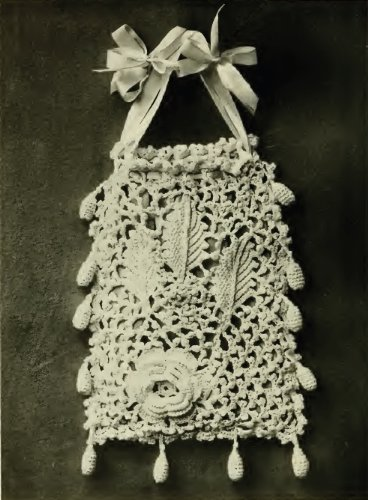 IRISH CROCHET RETICULE (Irish Crochet)